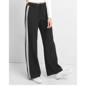 GAP Sporty Wide Leg Twill Track Pants